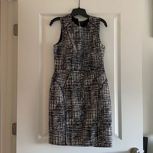 H and M black and white dress